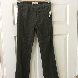 NWT KAKI corduroy bootcut pants GAP size 25